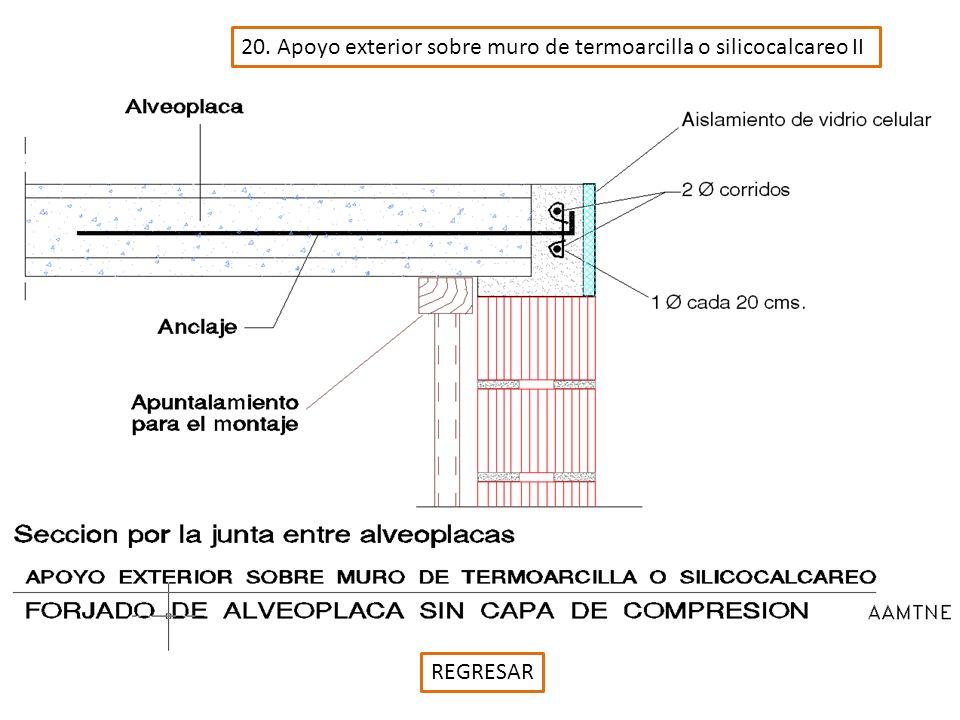 20. Apoyo exterior sobre muro de termoarcilla o silicocalcareo II