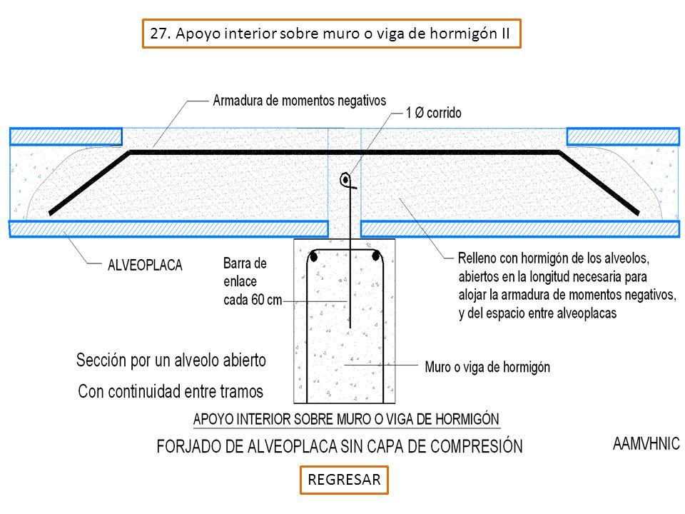 27. Apoyo interior sobre muro o viga de hormigón II