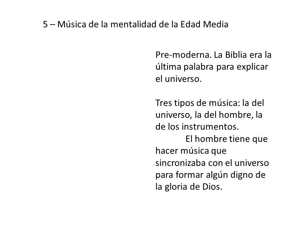 5 – Música de la mentalidad de la Edad Media