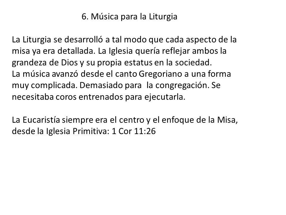 6. Música para la Liturgia
