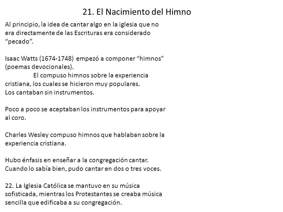 21. El Nacimiento del Himno