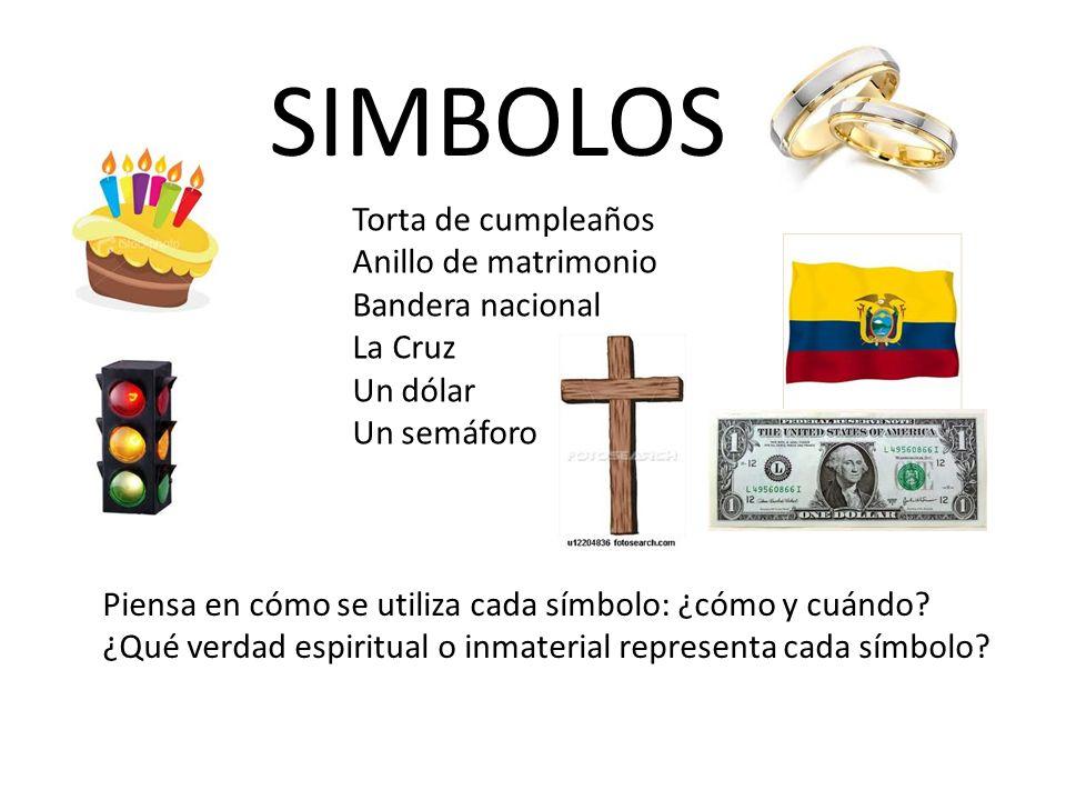 SIMBOLOS Torta de cumpleaños Anillo de matrimonio Bandera nacional