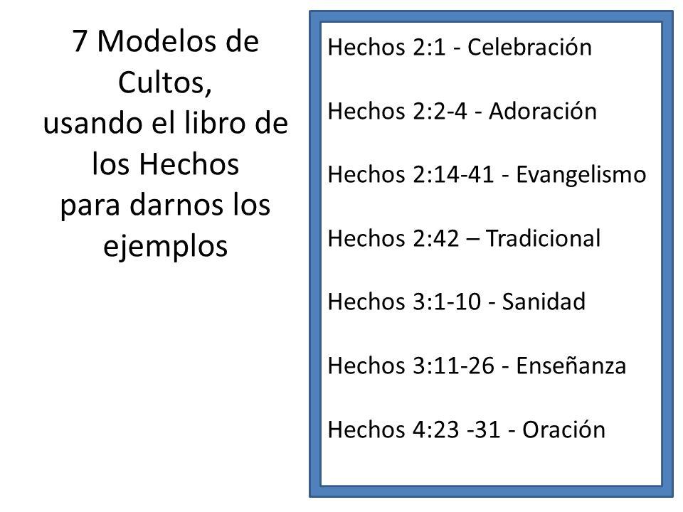 usando el libro de los Hechos para darnos los ejemplos