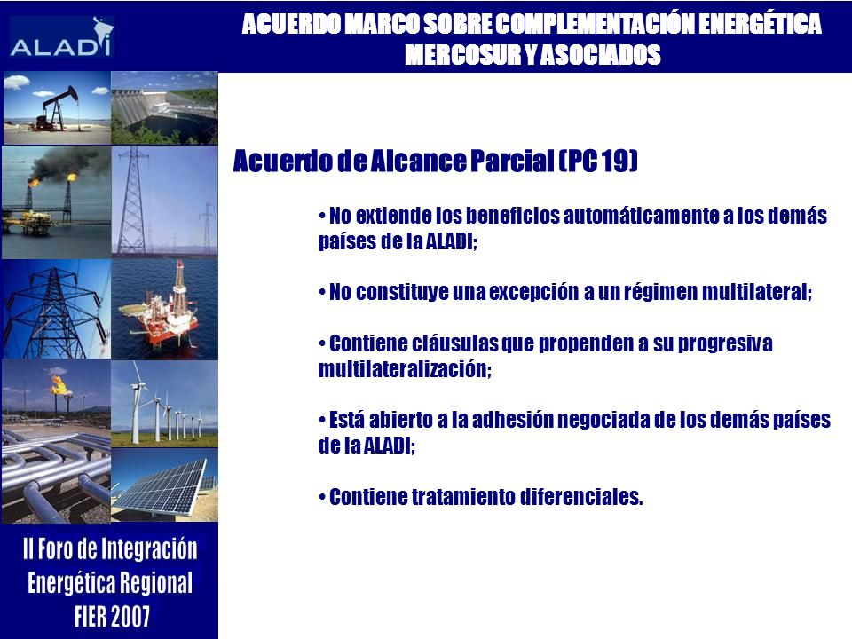 ACUERDO MARCO SOBRE COMPLEMENTACIÓN ENERGÉTICA MERCOSUR Y ASOCIADOS