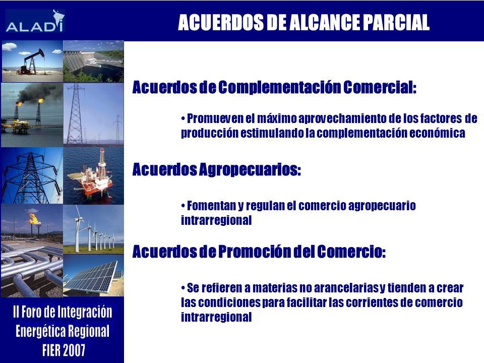ACUERDOS DE ALCANCE PARCIAL