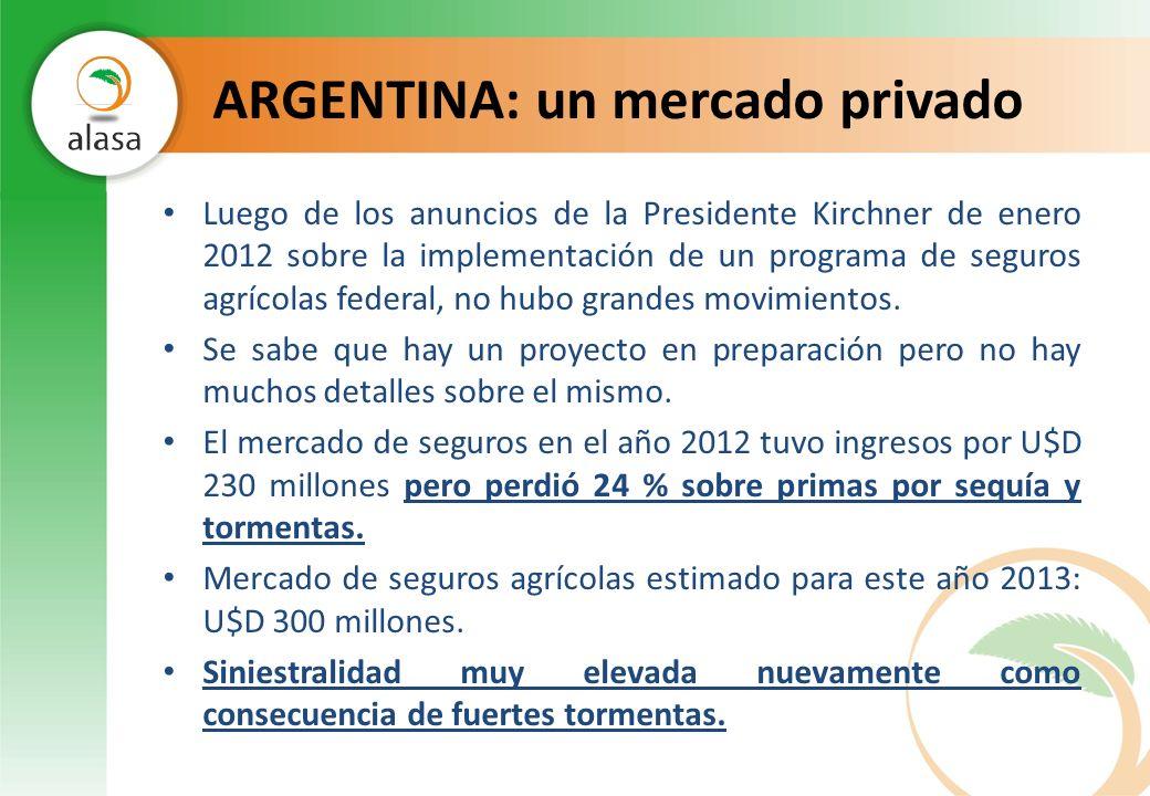 ARGENTINA: un mercado privado