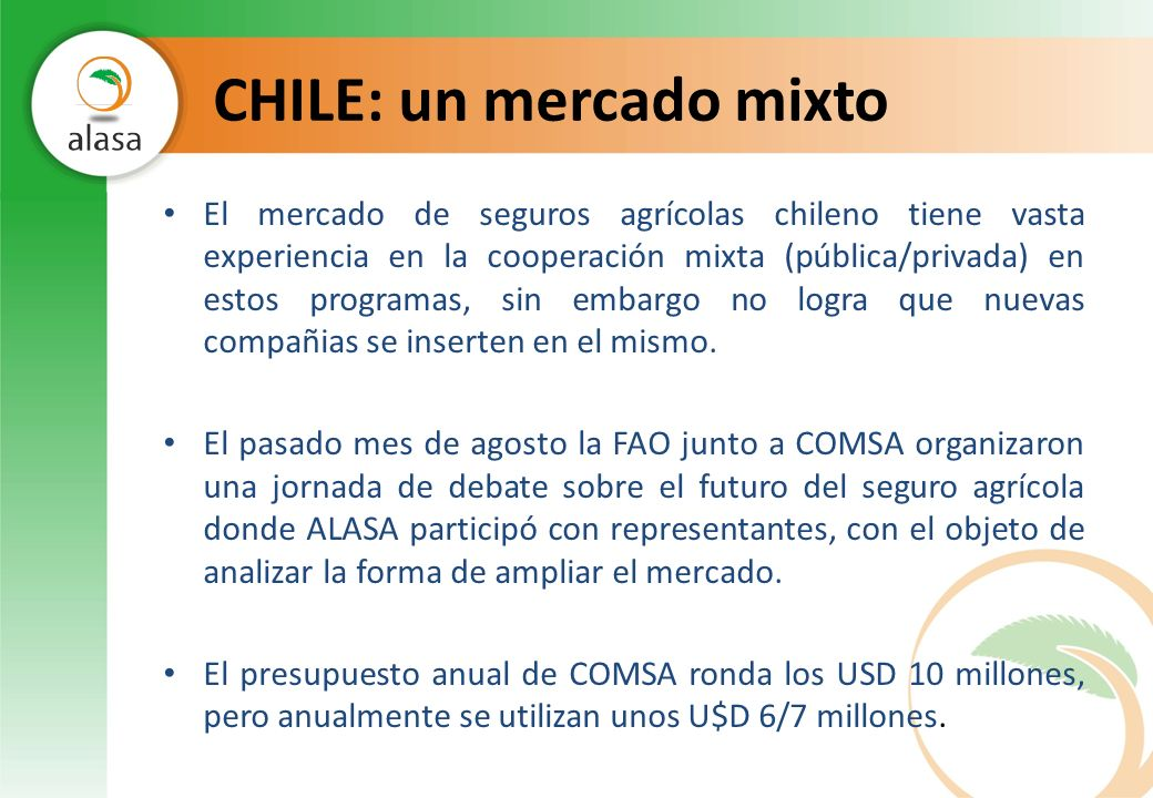 CHILE: un mercado mixto