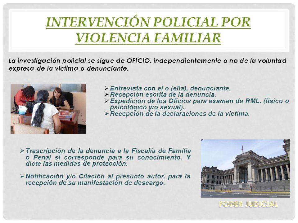 Intervención policial por violencia FAMILIAR