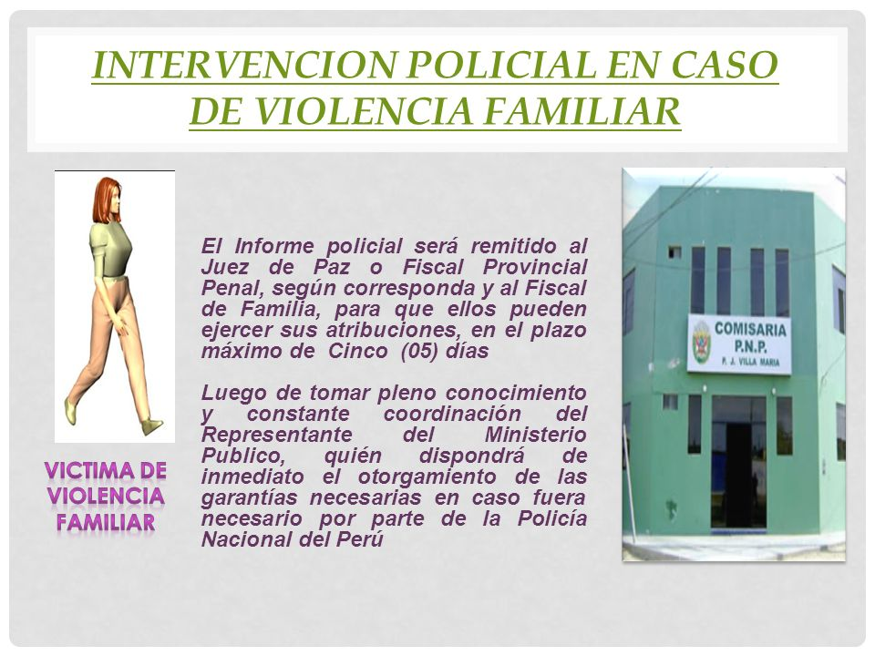 INTERVENCION POLICIAL EN CASO DE VIOLENCIA FAMILIAR