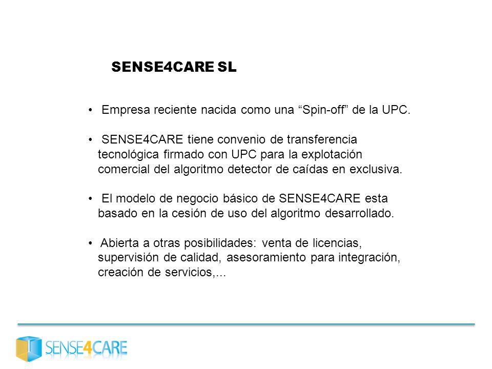 SENSE4CARE SL Empresa reciente nacida como una Spin-off de la UPC.