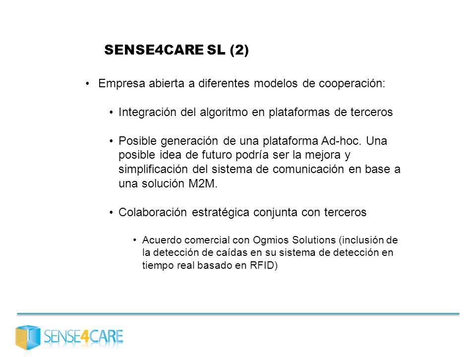 SENSE4CARE SL (2) Empresa abierta a diferentes modelos de cooperación:
