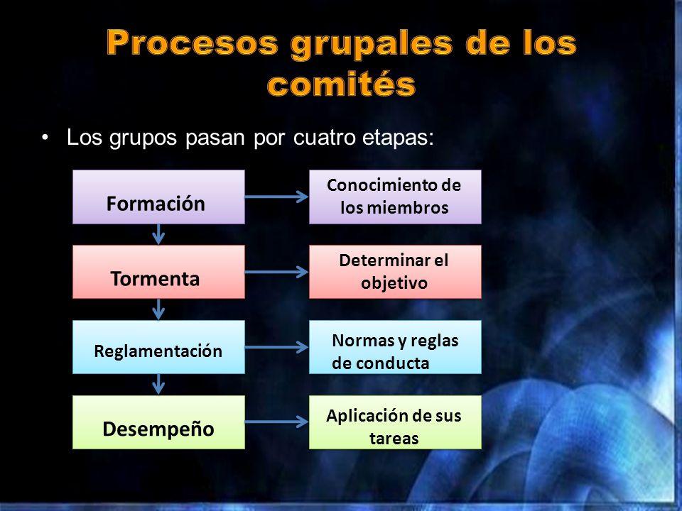 Procesos grupales de los comités