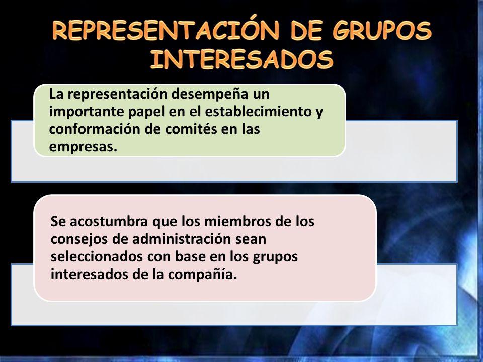 REPRESENTACIÓN DE GRUPOS INTERESADOS