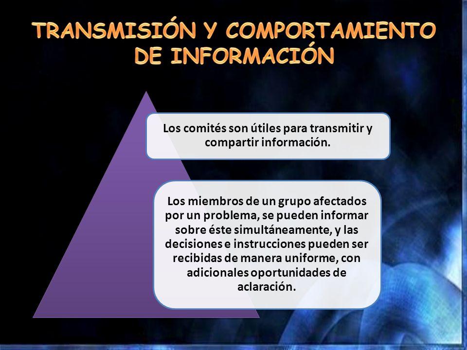 TRANSMISIÓN Y COMPORTAMIENTO DE INFORMACIÓN