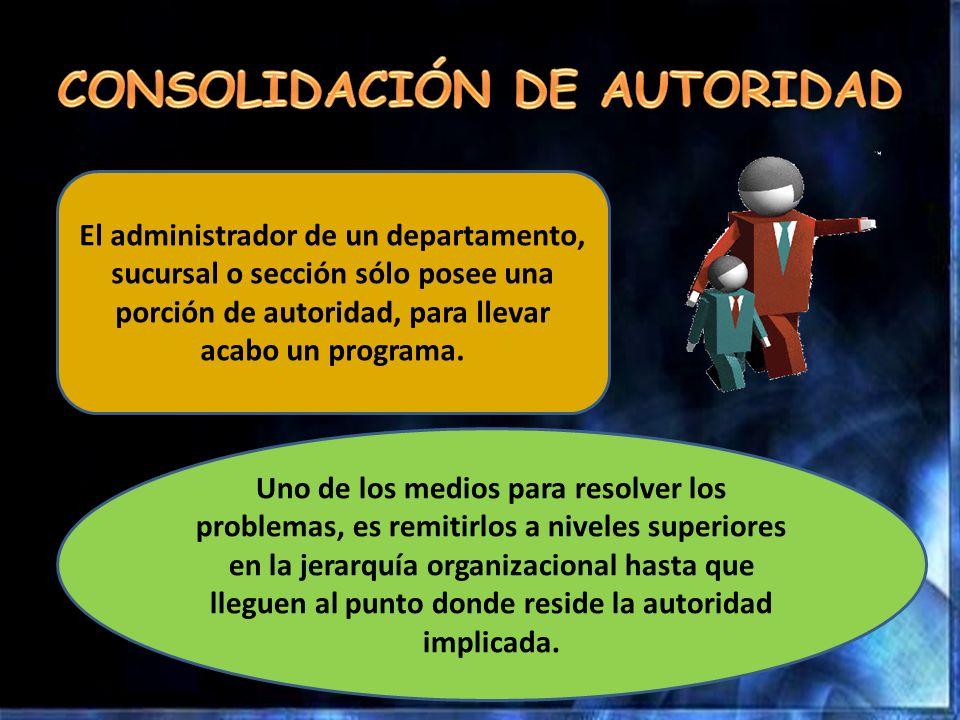 CONSOLIDACIÓN DE AUTORIDAD