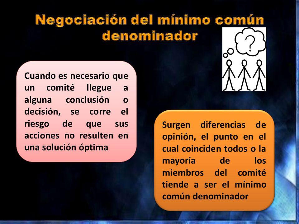 Negociación del mínimo común denominador