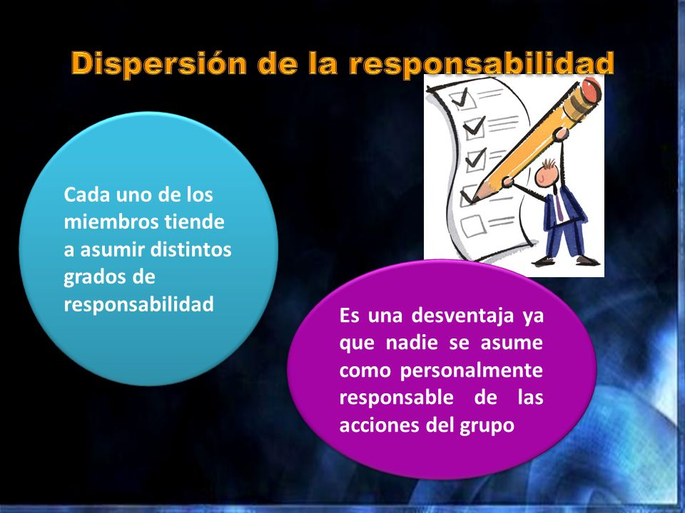 Dispersión de la responsabilidad
