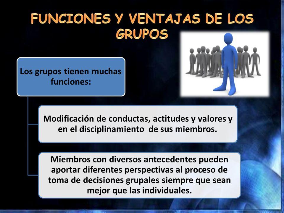 FUNCIONES Y VENTAJAS DE LOS GRUPOS