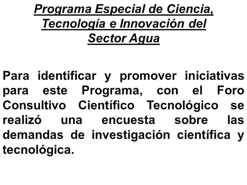 Programa Especial de Ciencia, Tecnología e Innovación del Sector Agua