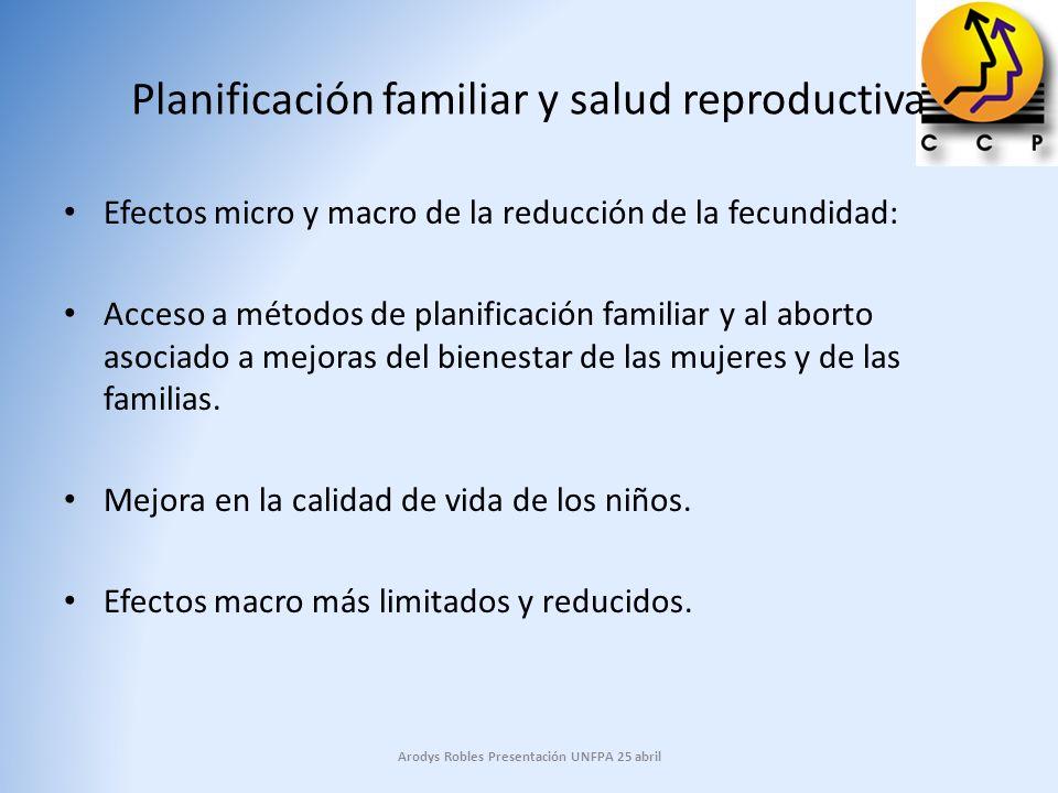 Planificación familiar y salud reproductiva