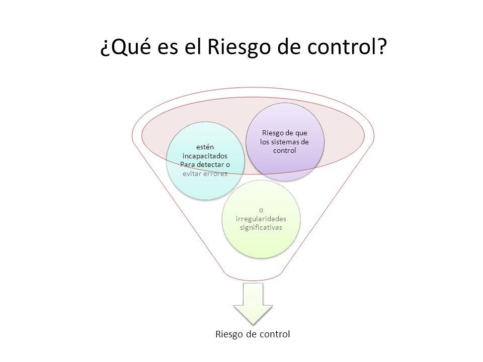 ¿Qué es el Riesgo de control
