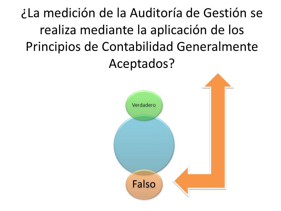 ¿La medición de la Auditoría de Gestión se realiza mediante la aplicación de los Principios de Contabilidad Generalmente Aceptados