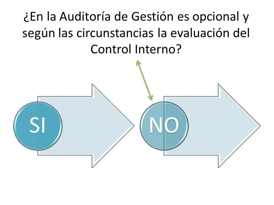 ¿En la Auditoría de Gestión es opcional y según las circunstancias la evaluación del Control Interno