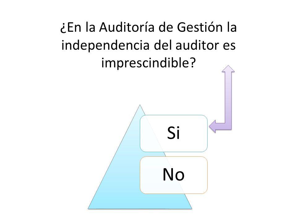 ¿En la Auditoría de Gestión la independencia del auditor es imprescindible
