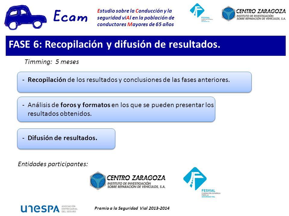 FASE 6: Recopilación y difusión de resultados.