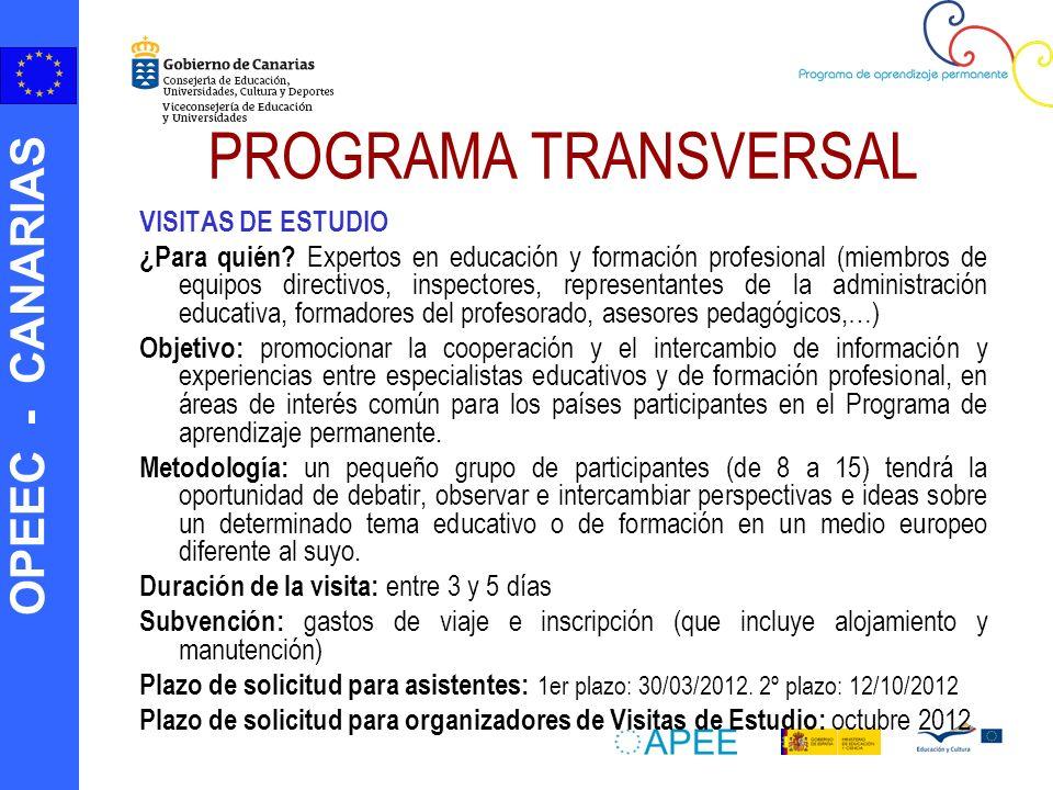 PROGRAMA TRANSVERSAL VISITAS DE ESTUDIO