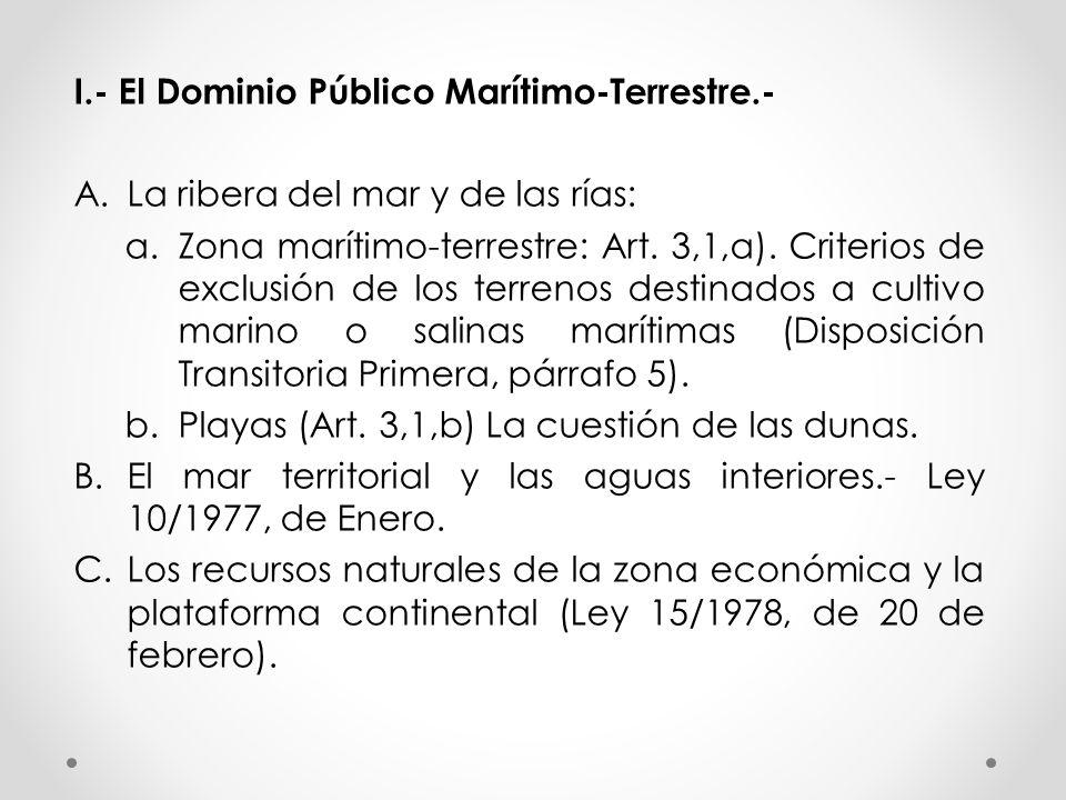 I.- El Dominio Público Marítimo-Terrestre.-