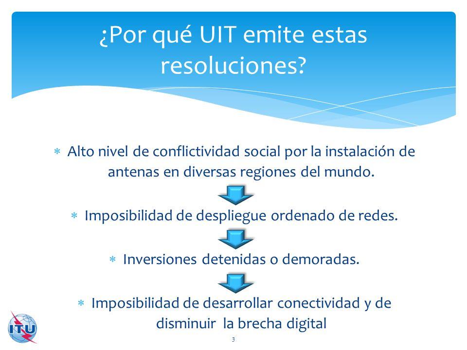 ¿Por qué UIT emite estas resoluciones