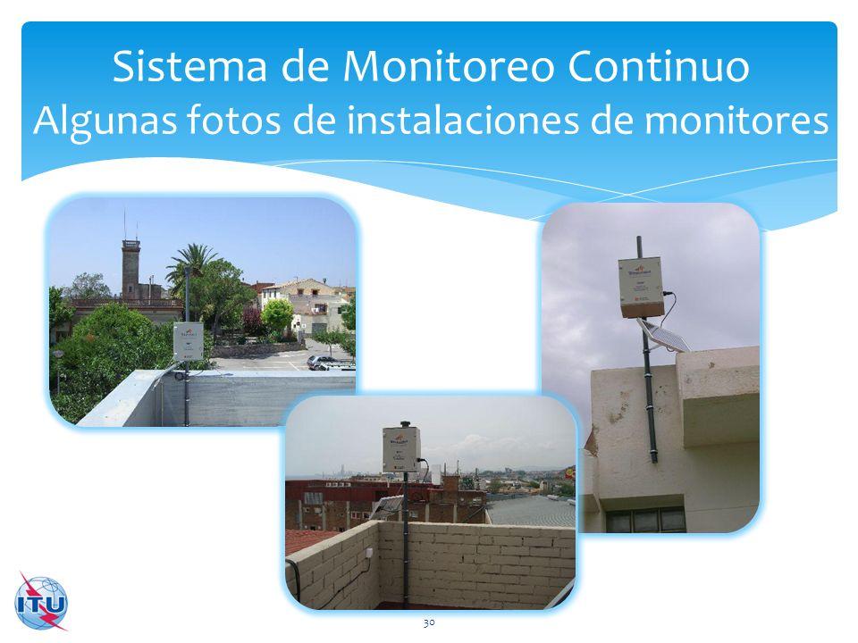 Sistema de Monitoreo Continuo Algunas fotos de instalaciones de monitores
