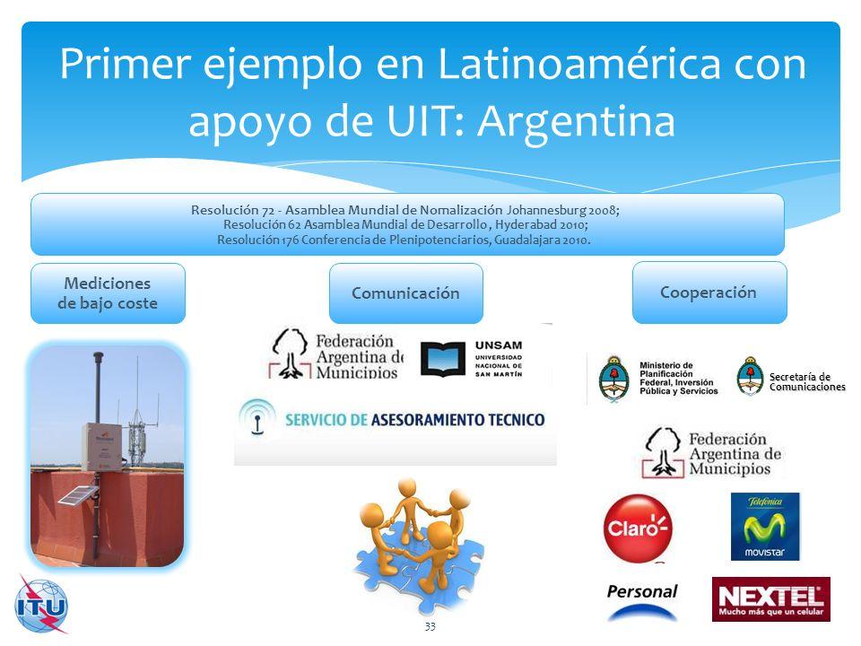 Primer ejemplo en Latinoamérica con apoyo de UIT: Argentina