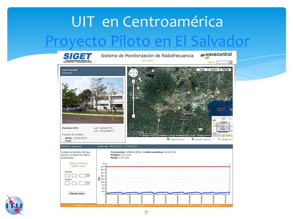UIT en Centroamérica Proyecto Piloto en El Salvador