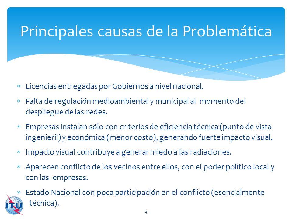 Principales causas de la Problemática