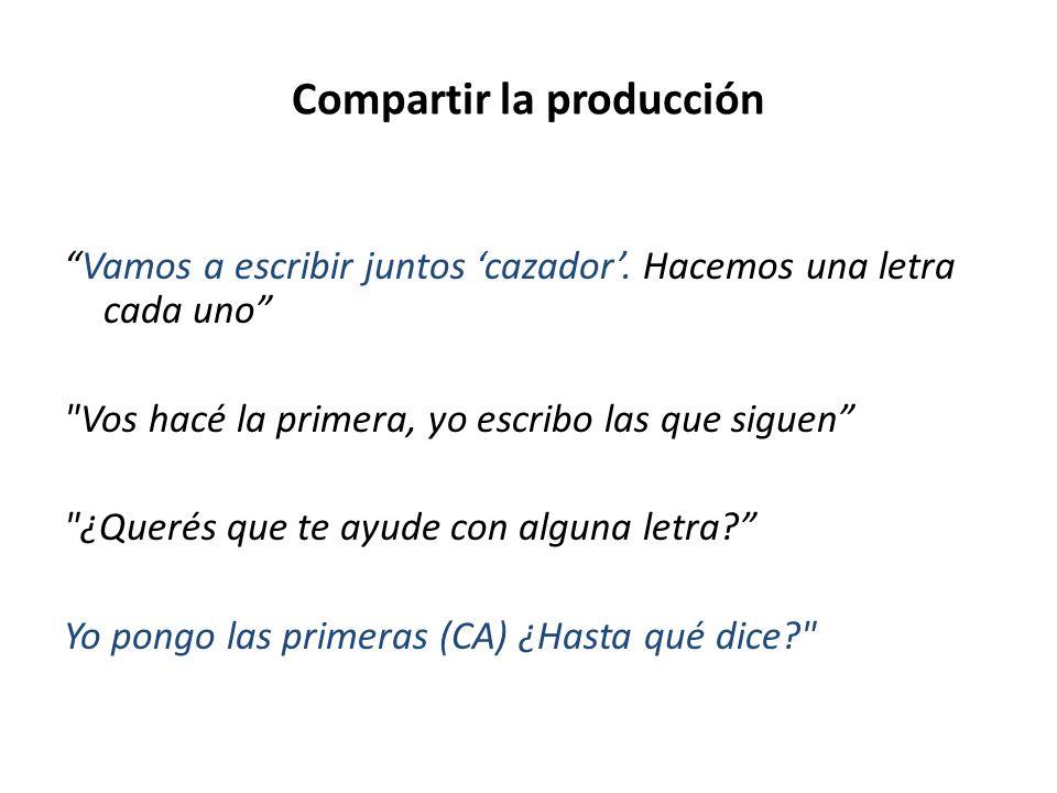 Compartir la producción