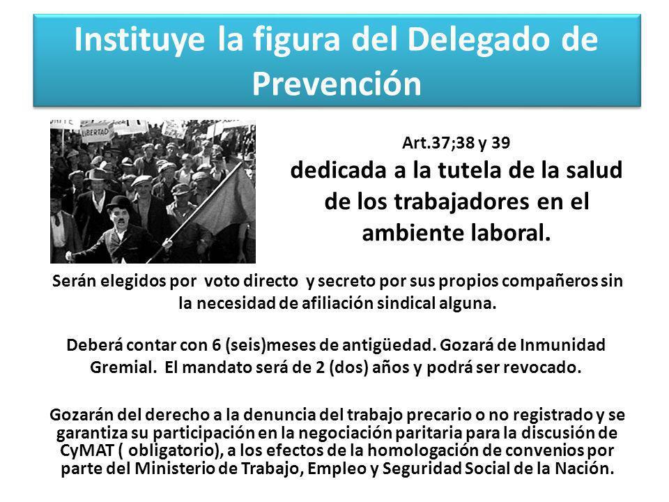 Instituye la figura del Delegado de Prevención
