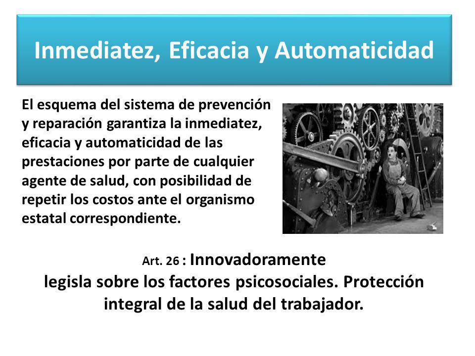 Inmediatez, Eficacia y Automaticidad