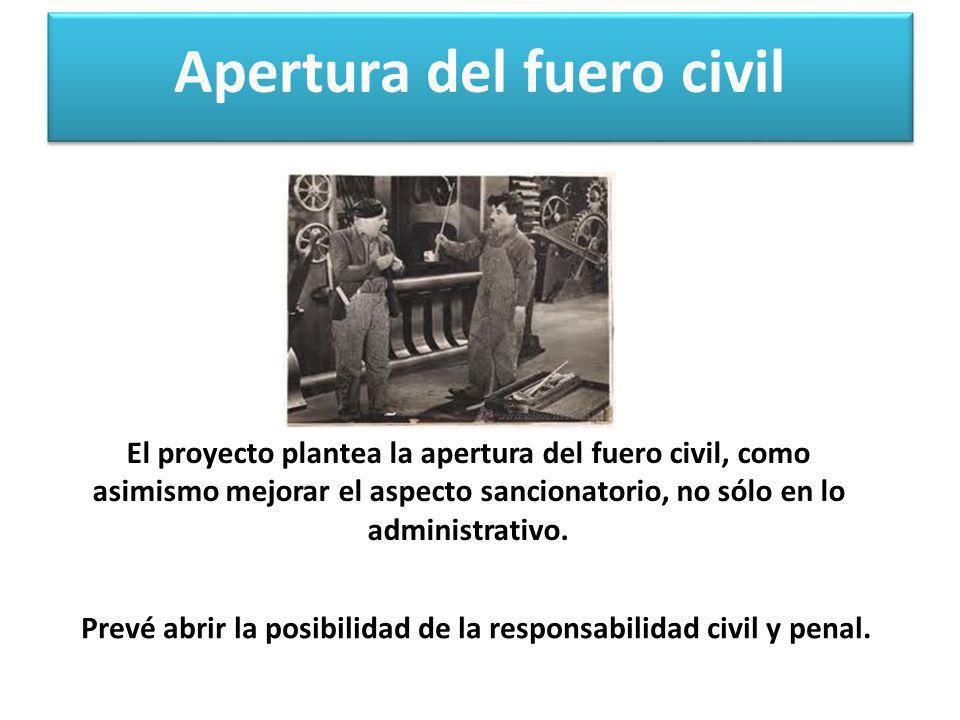 Apertura del fuero civil