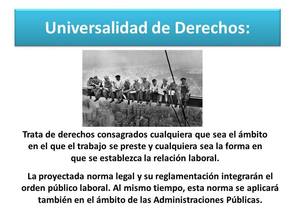 Universalidad de Derechos: