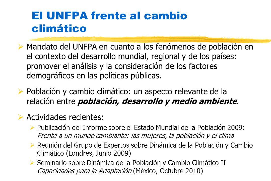 El UNFPA frente al cambio climático