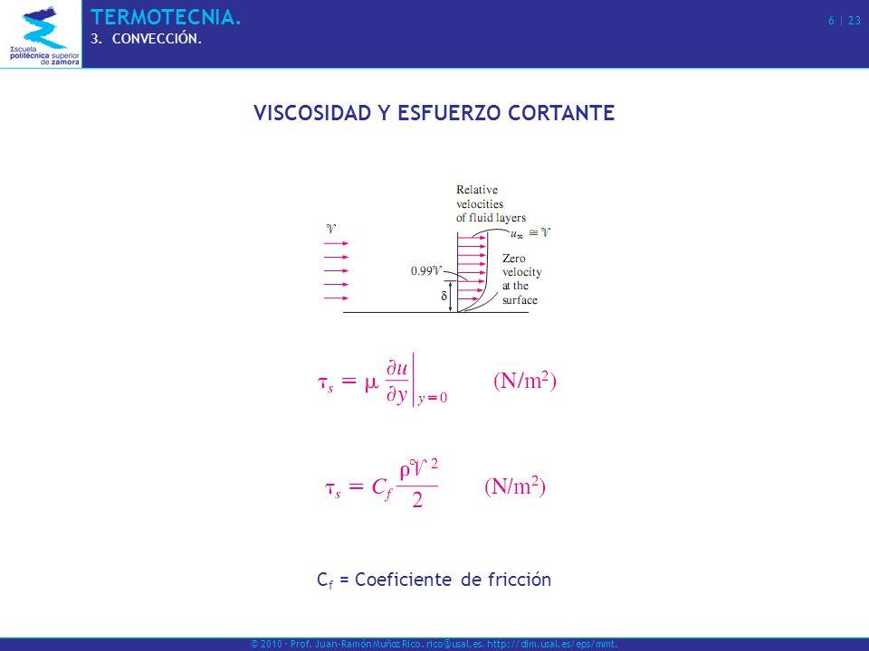 VISCOSIDAD Y ESFUERZO CORTANTE
