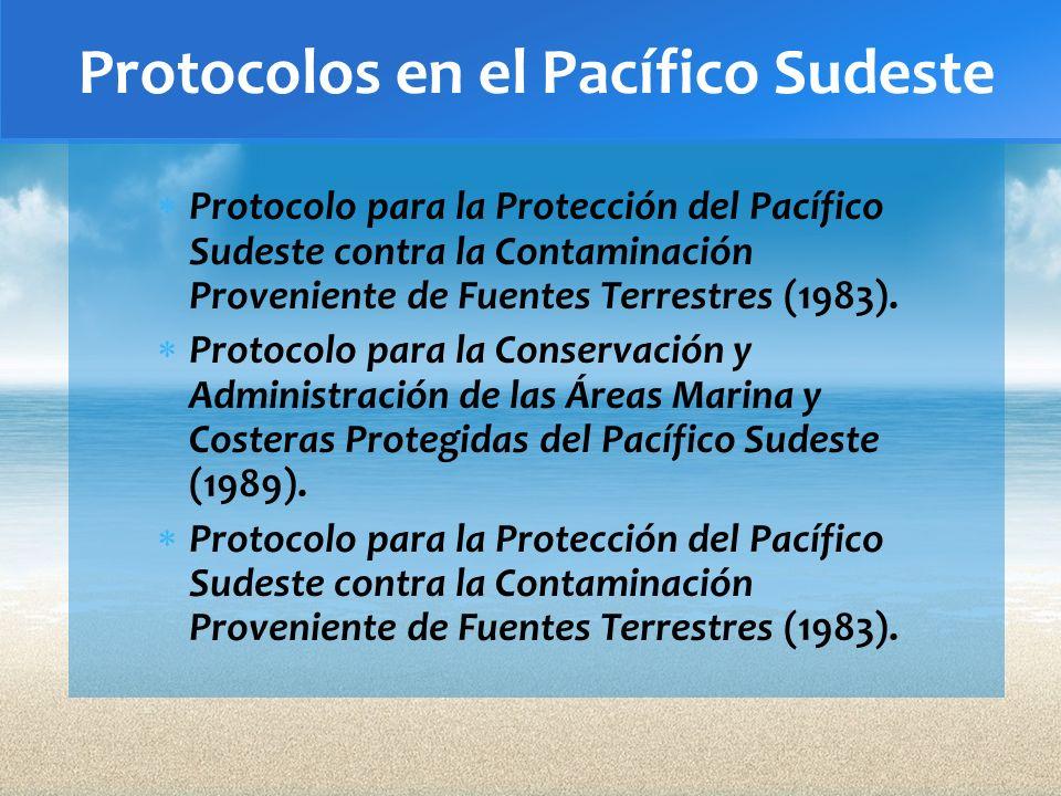 Protocolos en el Pacífico Sudeste