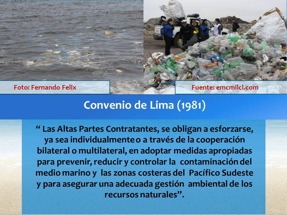 Foto: Fernando Felix Fuente: emcmilcl.com. Convenio de Lima (1981)