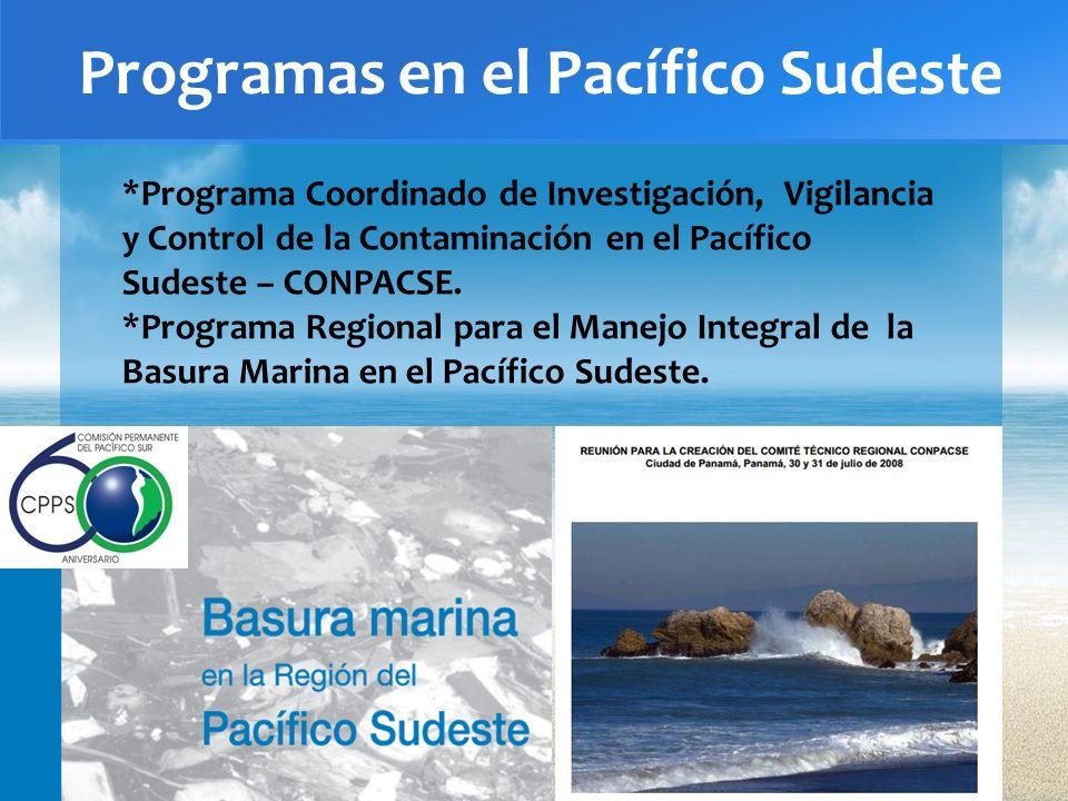 Programas en el Pacífico Sudeste
