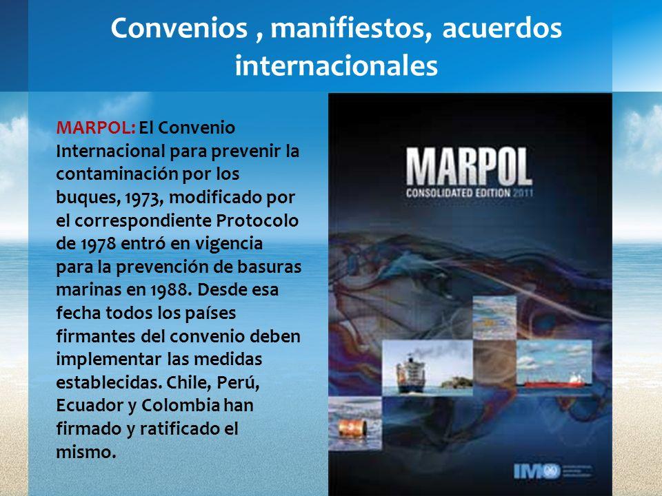 Convenios , manifiestos, acuerdos internacionales