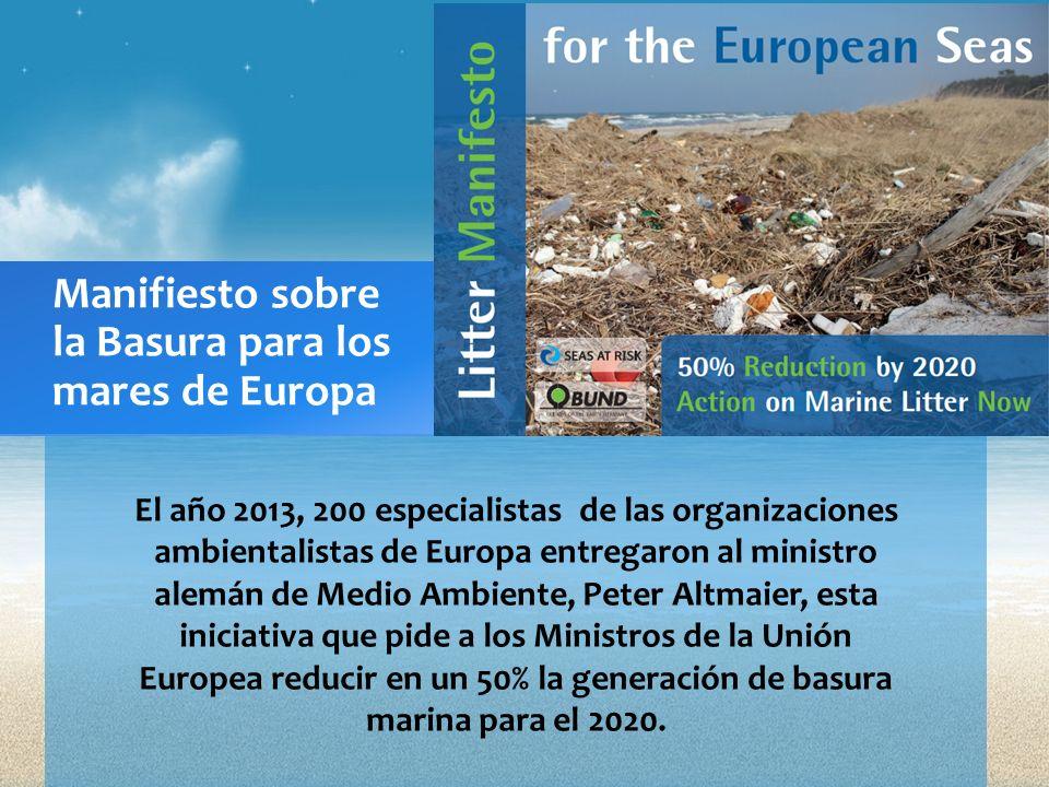 Manifiesto sobre la Basura para los mares de Europa