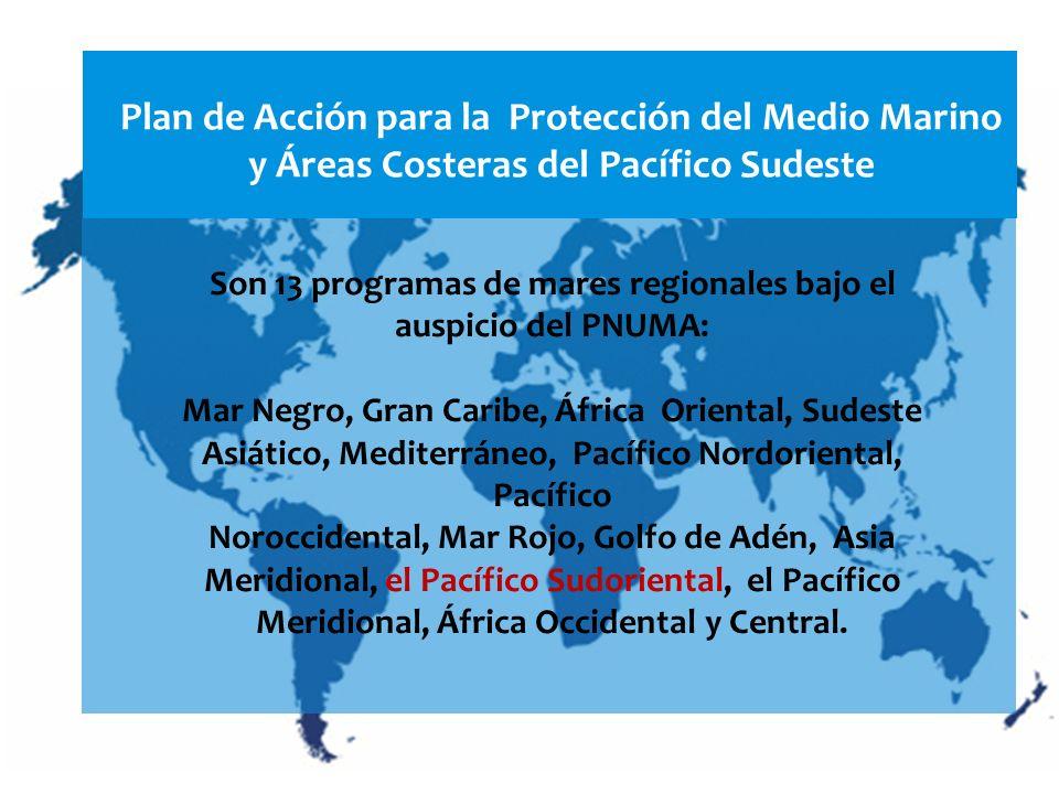 Son 13 programas de mares regionales bajo el auspicio del PNUMA: