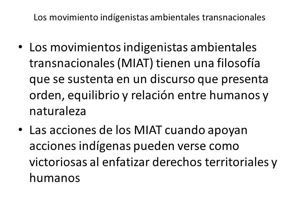Los movimiento indígenistas ambientales transnacionales
